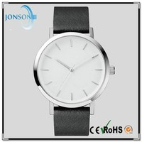 Vogue ultra thin leather stainless steel japanese brand watches man watches top 2014