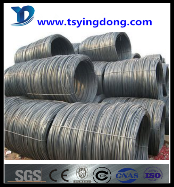 high quality SAE1008B low carbon steel wire rod in coil China supplier