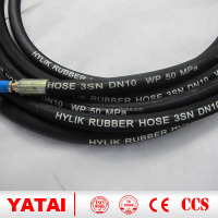 2016 alibaba hot sell China high pressure oil resistance steel wire braid rubber hydraulic hose hot water pressure washer hose