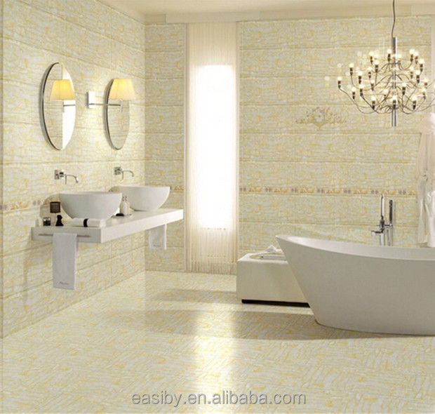 China cheap white and gold color flower pattern bathroom tile design small ceramic <strong>wall</strong> and floor tile