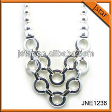 Silver color best selling chain necklace