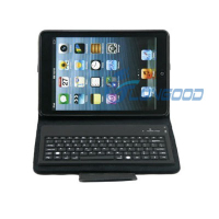 Leather Case Silicone Folding Wireless Bluetooth Keyboard For iPad Mini