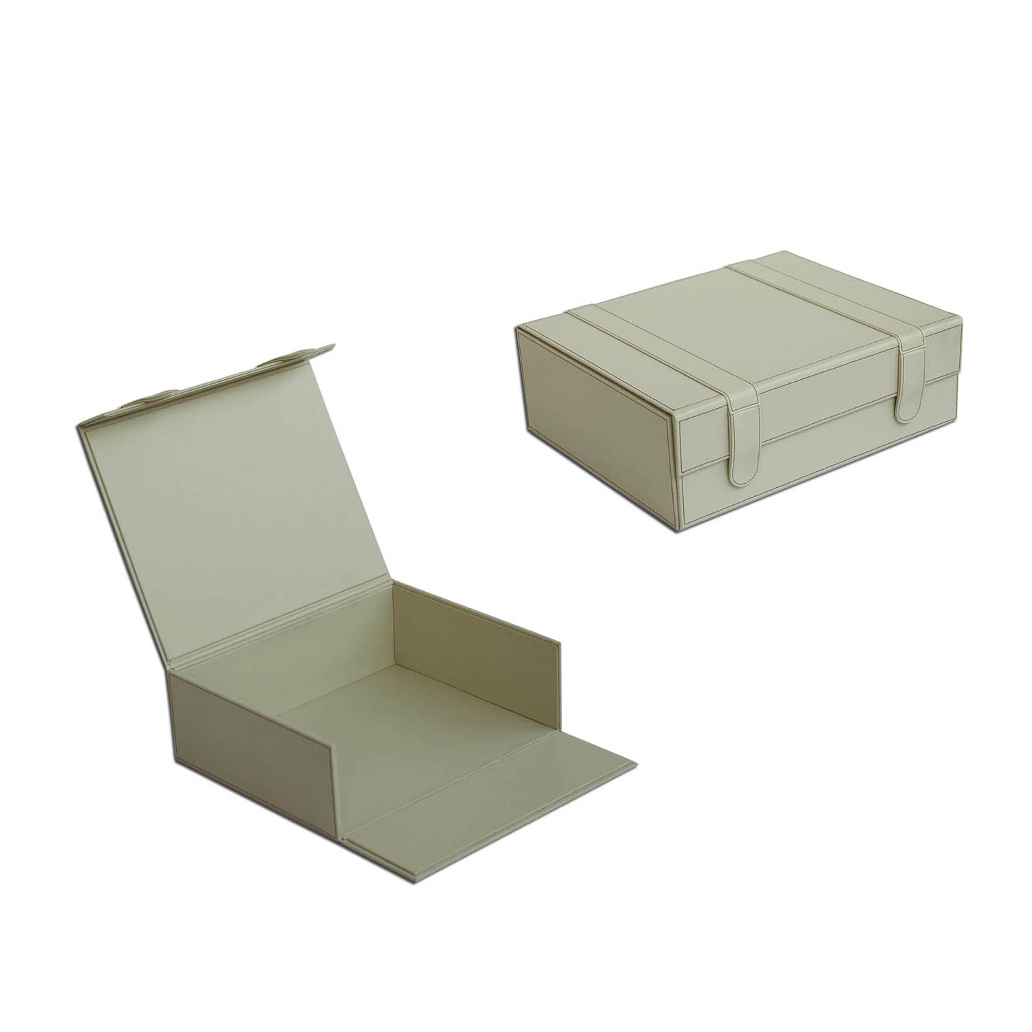 Custom wholesale multipurpose&convenient leather storage box in magnetic clasps