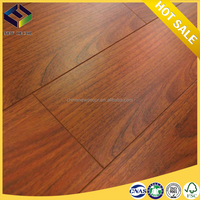 8mm easy click walnut rubber wood laminate flooring manufacturer in china shandong