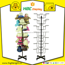 adjustable metal wood cap hat display stand