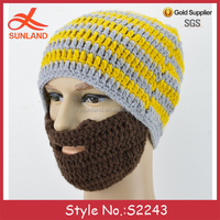 new men womens winter ski face mask hats crochet bonnet knit beard beanie hats