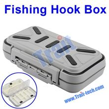 Gray Portable Skidproof Waterproof Fishing Tackle Box for Fishing Lures Hooks with 16 Little Cases Inside