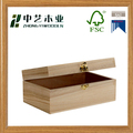 Wholesales handmade rectangular unfinished paulownia wooden gift boxes
