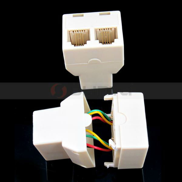 RJ11 Connector Cable Adapters RJ11 Splitter 6P4C