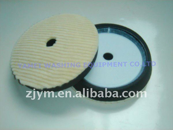 "6"" Hollowed Wool+ foam loop round pad"