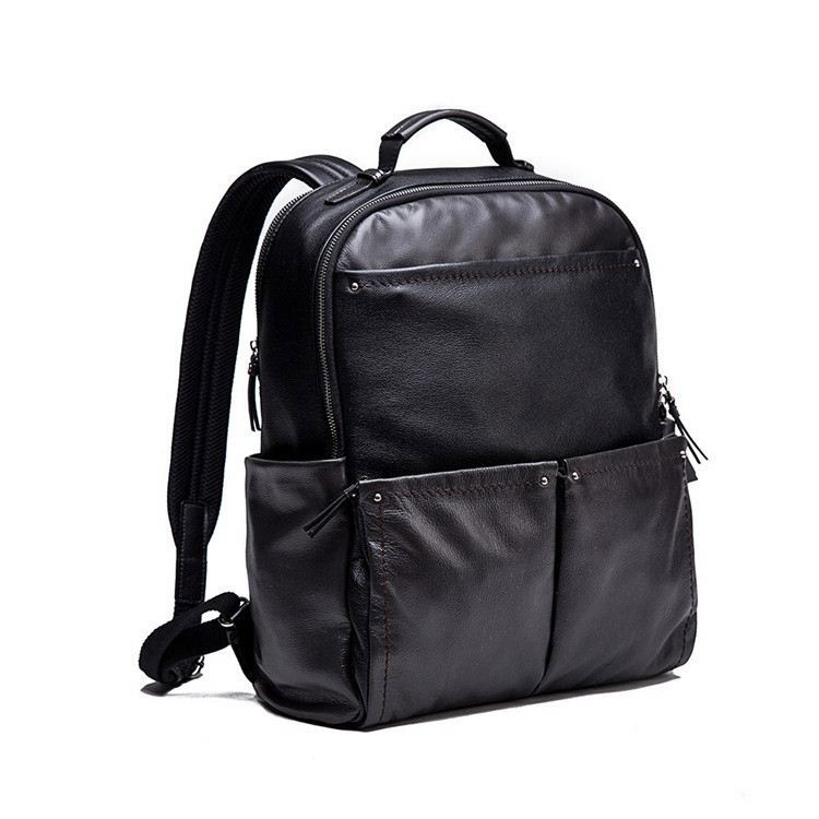 Factory Free Custom LOGO OEM Small MOQ Vintage Genuine Leather The Backpack Manufacturers