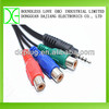 free market united states y splitter audio adapter rca cable