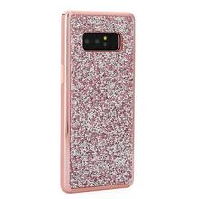 Trend electroplated 2 in 1 PC Silicone hybird diamond glitter bling sublimation phone back case for samsung galaxy s4 mini i9190