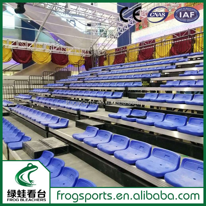Indoor gym Retractable bleacher seating chairs for stadium