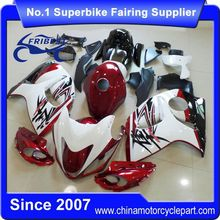 FFKSU013 Motorcycle ABS Fairing For GSX R1300 GSXR1300 For Hayabusa 2008-2014 White And Dark Red With Tank Cover 2