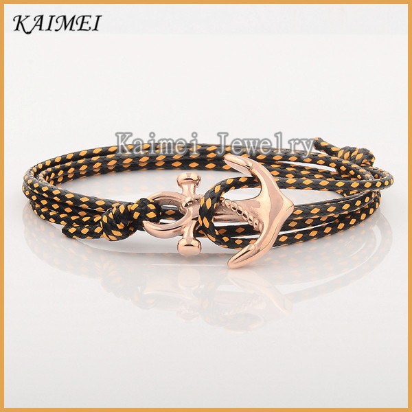 Factory Price Newest Products Stainless Steel Gold Plating Buy Anchor Bracelet