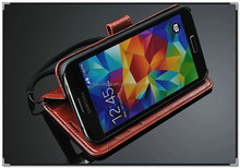 high class PU leather innovation stand fuction phone case for samsung galaxy s5