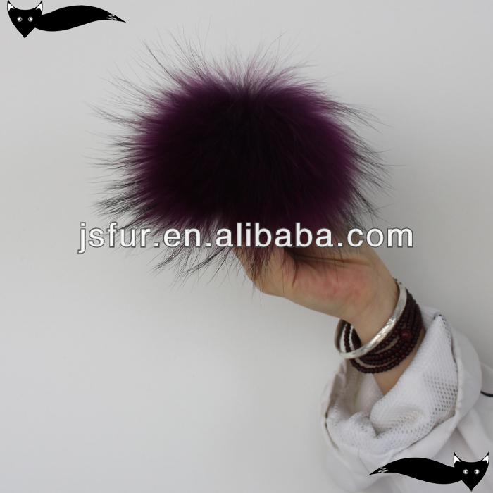 Genuine gloxinia 13cm raccoon fur hats with fur balls