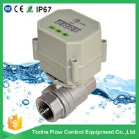 S20-S2-C stainless steel control water valve with timer, auto drain ball valve