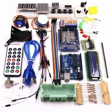 Updated version beginners starter kit with UNO R3,LCD1602 screen ,9V Battery box