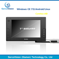 Hot sell 7 inch IP64 touch panel pc,industrial touch screen panel pc linux