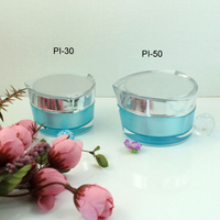 High Quality of 30g Heart Shape Acrylic clear plastic cylinder container