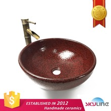 2017 Sanitary Ware Porcelain Wash Hand Basin Classic Sink Above Counter