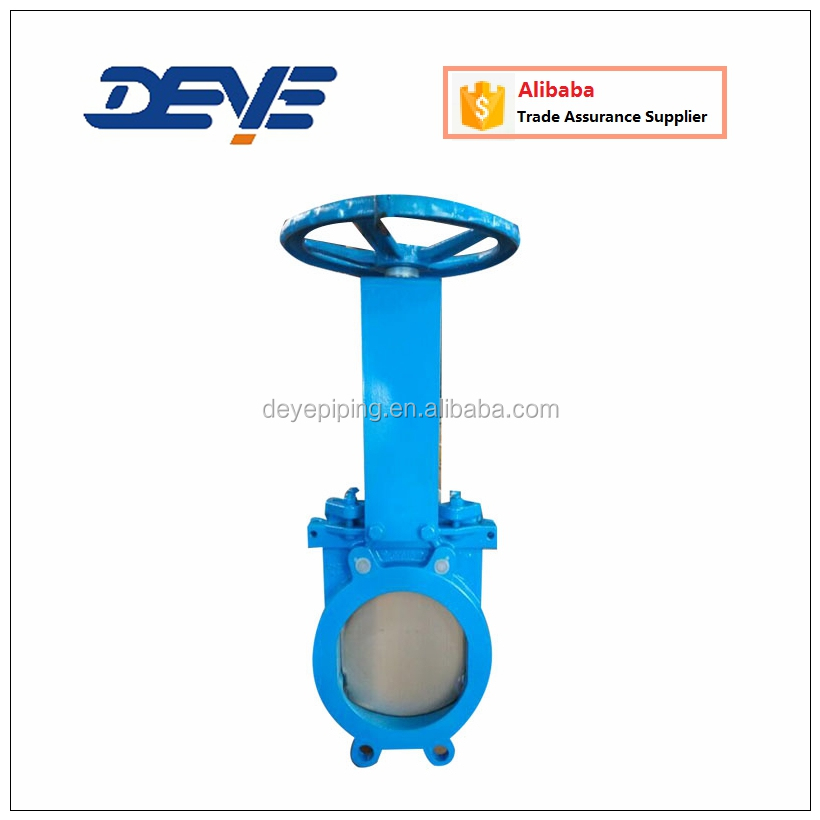 Wafer Lug Ductile Iron Body SS Blade Metal or Rubber Seat Knife Gate Valve