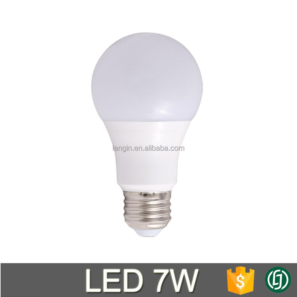 a19 led light bulb standard e26 base 7w energy saving. Black Bedroom Furniture Sets. Home Design Ideas
