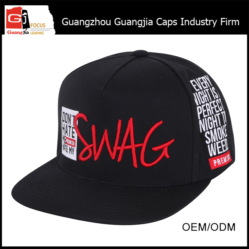 High quality embrodiery printing logo custom pictures of mens snapback hats