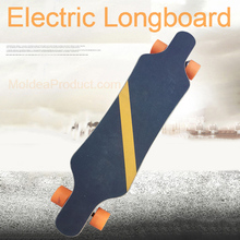 Electric Longboard - Portable Electric Four-wheel Remote Control Skateboard Single Drive Electric Small Fish Plate