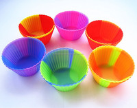 New swirl color FDA approved microwave oven safe non stick 7cm cupcake silicone bpa free