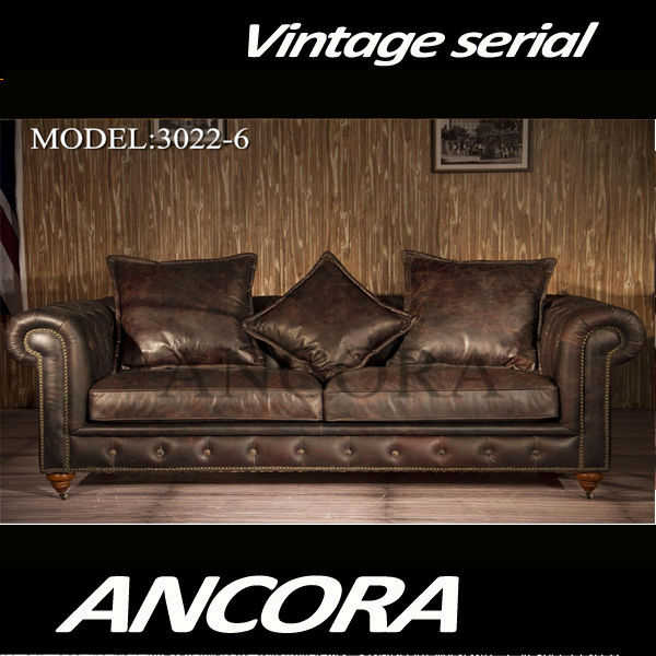 wohnzimmer chesterfield:Vintage Style Leather Sofa ~ wohnzimmer chesterfield