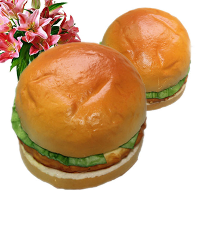 Simulation PU hamburger for decoration