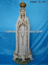 large resin religious craft virgin mary statue