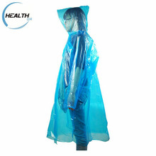 Disposable folding PE raincoat with cheap prices