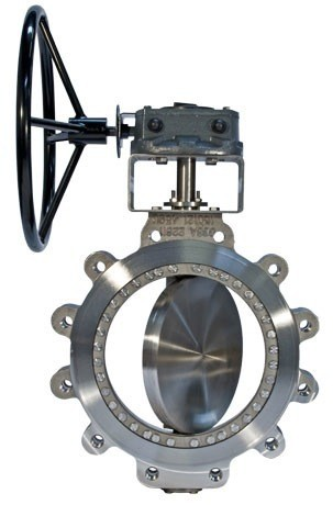 "HAND LEVER / WORM GEAR OPERATED TRIPLE OFF SET ""WAFER TYPE"" BUTTERFLY VALVE 150# (FIRE SAFE DESIGN)"