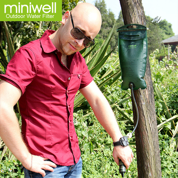 miniwell straw water filter water purification as hiking kit or outdoor activity gear