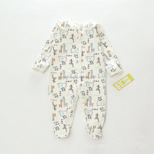 Graphic sleep set footed one-piece cotton baby clothes pajamas baby layette