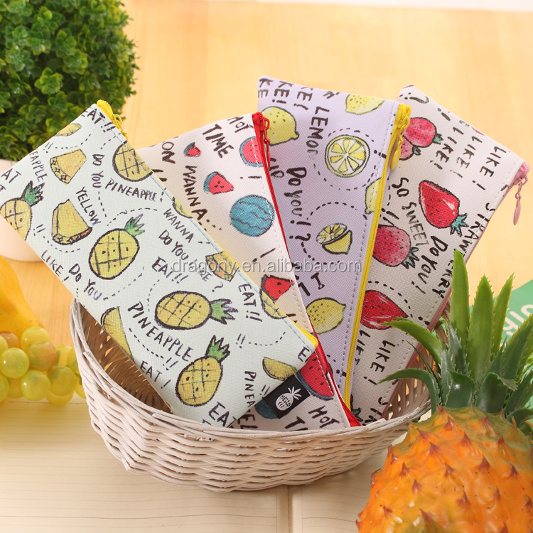 Cute Fruit Wind Waterproof Storage Bag Student Pencil Case