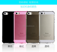 clear Transparent soft tpu anticollision dust control cell phone case for iphone SE skin