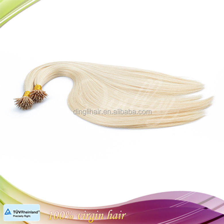 Remy prebonded human hair, blonde micro ring hair extensions