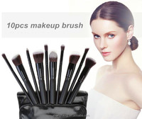 2017 free sample hot selling wholesale price private label 10pcs makeup brush set cheap best foundation brush