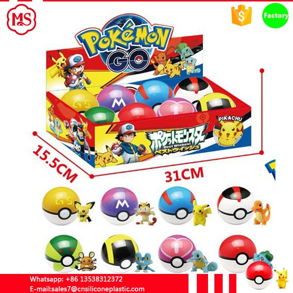 China manufacture Promotional 7cm pokemon toys with figure toys for kids
