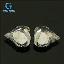 Peach-nut shape White / high quality Cubic Zirconia gemstone