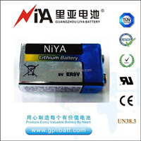 High quality 9V lithium battery 1200mAh widely used for smoke alarm