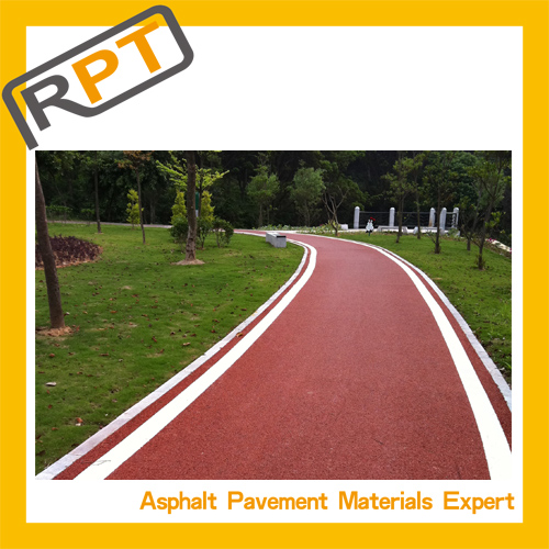 Colored hot asphalt mixture, provide sample and brochure for free