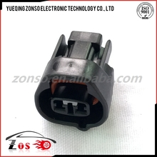 2pin black female automotive injector connector pa66