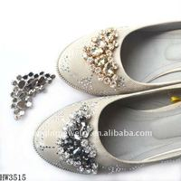2012 new design rhinestone buckle on lady shoes