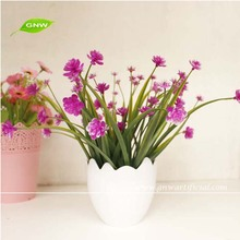 GNW GP025 New Product Home Garden Landscaping Plastic Fake Flower Potted and Artificial Plant